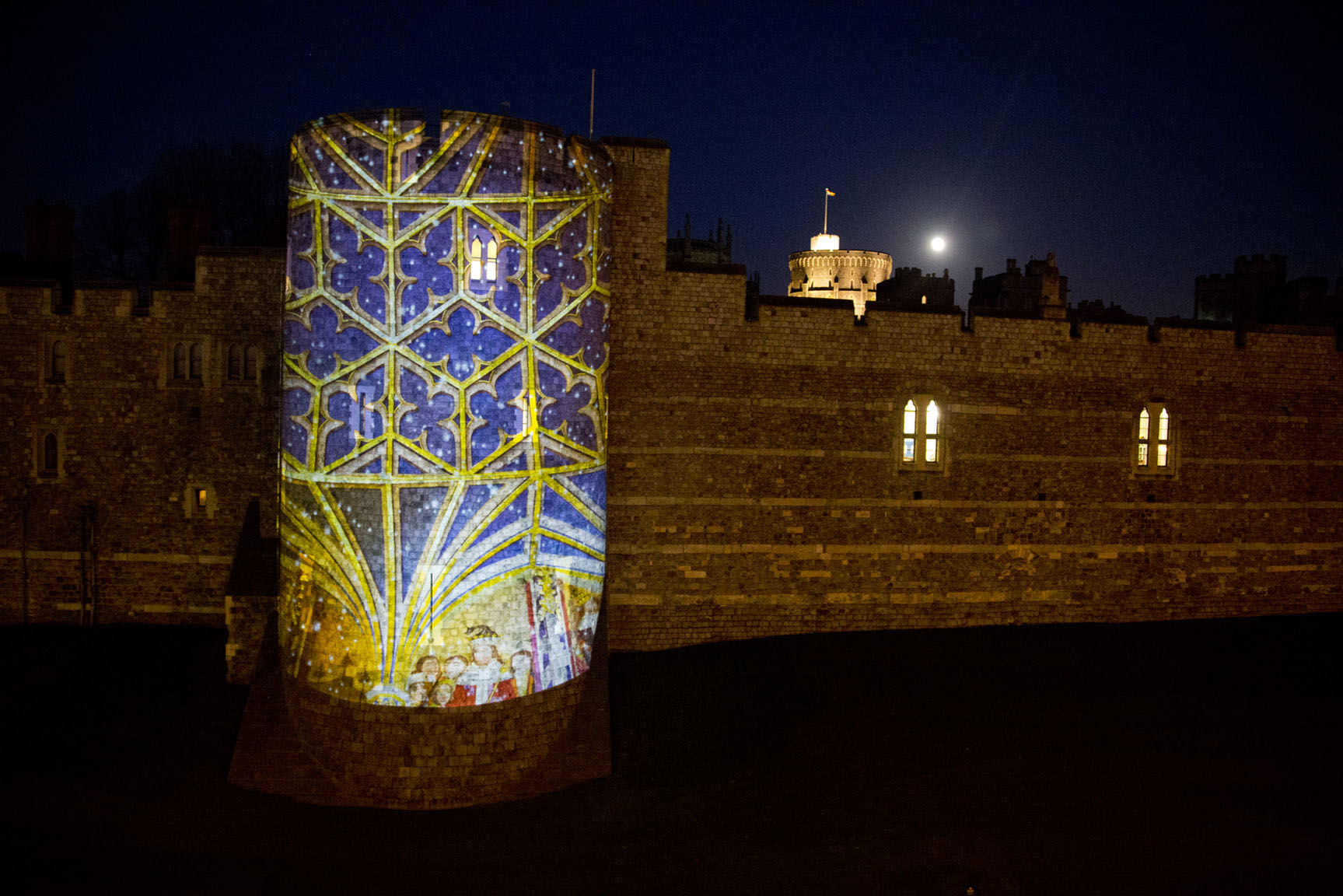 Projecting Christmas at Windsor Castle A1 Lighting Lighting